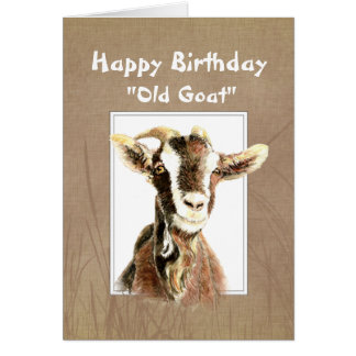 Funny Birthday Over the Hill Old Goat Humor Greeting Card