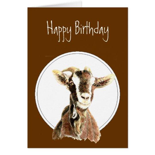 Happy Over The Hill Birthday Birthday Humor Dog Card: Funny Birthday, Over The Hill, Old Goat Humor Card