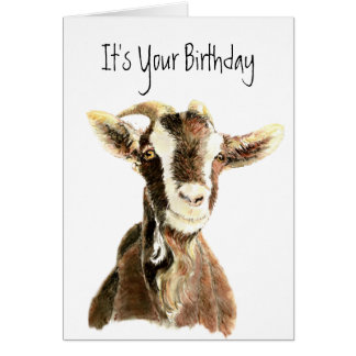 Funny Birthday, Over the Hill, Old Goat Humor Card