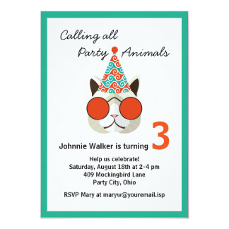 Funny Birthday Party Animal - All Ages Card