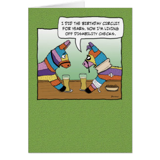 Funny Birthday: Pinata on Disability Greeting Card
