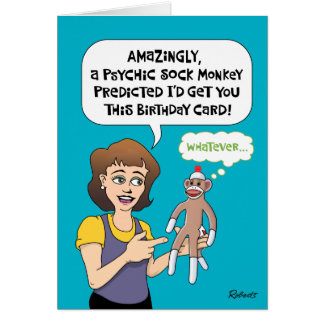 Funny Birthday Predictions Card