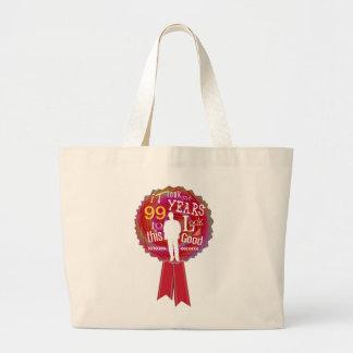 Funny Birthday Rosette for men Bags