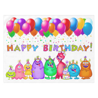 Funny Birthday Tablecloth Banner