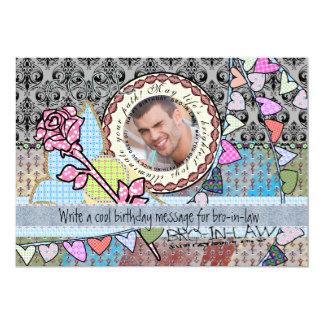 Funny birthday template photo card- Brother-in-law