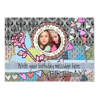 Funny birthday template photo card -friends or all