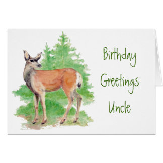 Funny Birthday Uncle,Someone Deer to my Heart Greeting Card
