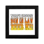 Funny Birthday Wedding Worlds Greatest Son in Law Keepsake Boxes