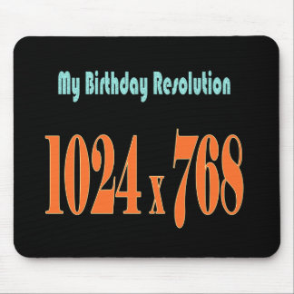 Funny birthday wishes mouse pad