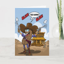 Funny Birthday Wishes - Peanut Cowboy Card