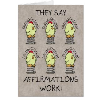 Funny Birthday Wishes, Spring Chicken Card