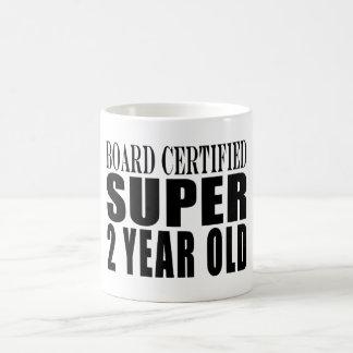 Funny Birthdays Board Certified Super Two Year Old Coffee Mug