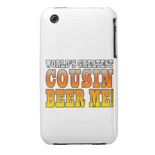Funny Birthdays Parties Worlds Greatest Cousin Case-Mate iPhone 3 Cases