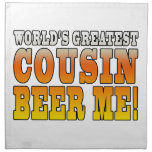 Funny Birthdays Parties Worlds Greatest Cousin Printed Napkin