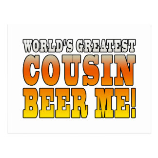 Funny Birthdays Parties Worlds Greatest Cousin Post Card