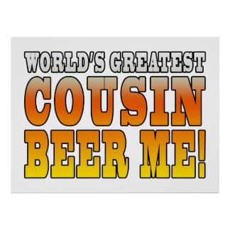 Funny Birthdays Parties Worlds Greatest Cousin Print