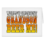 Funny Birthdays Parties Worlds Greatest Grandson Greeting Card