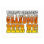 Funny Birthdays Parties Worlds Greatest Grandson Postcard