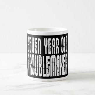 Funny Birthdays : Seven Year Old Troublemaker Coffee Mug