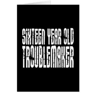 Funny Birthdays : Sixteen Year Old Troublemaker Card