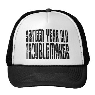 Funny Birthdays : Sixteen Year Old Troublemaker Mesh Hat