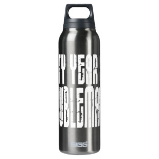 Funny Birthdays : Sixty Year Old Troublemaker 16 Oz Insulated SIGG Thermos Water Bottle