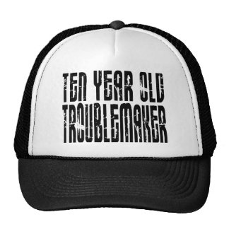 Funny Birthdays : Ten Year Old Troublemaker Trucker Hats