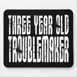 Funny Birthdays : Three Year Old Troublemaker Mouse Pad
