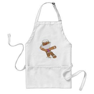 Funny Bit Himself Gingerbread Man Adult Apron