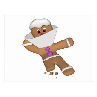 Funny Bit Himself Gingerbread Man Postcard