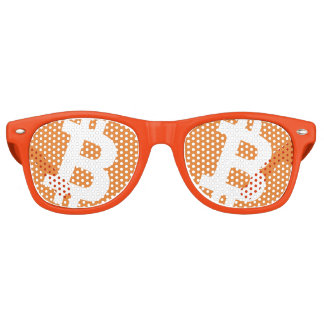 Funny Bitcoin money sign logo party shades