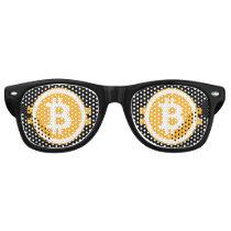 Funny Bitcoin Retro Sunglasses