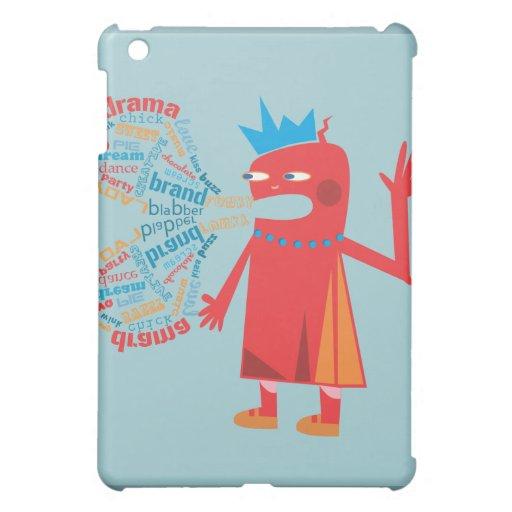 Funny Blabber Cartoon Character iPad case