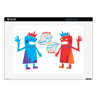 """Funny Blabber Cartoon Characters Zazzle Skin 15"""" Laptop Decal"""
