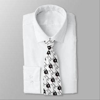 "Funny ""black an white lamb"" neck tie"