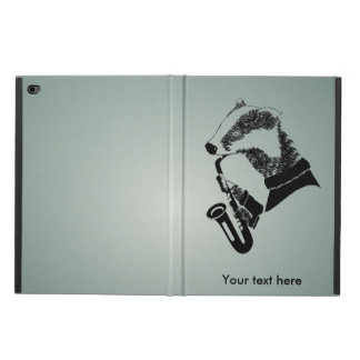 Funny Black and White Badger Saxophone Powis iPad Air 2 Case