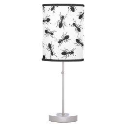 Funny Black Ants Pattern Desk Lamp