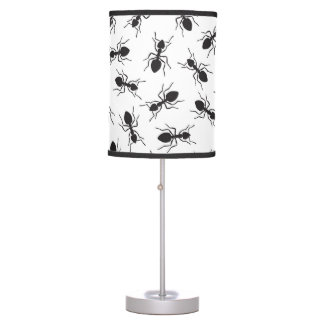 Funny Black Ants Pattern Desk Lamp