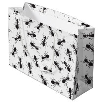 Funny Black Ants Pattern Large Gift Bag