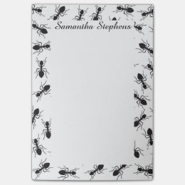 Funny Black Ants Pattern Post-it Notes