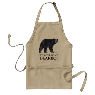 Funny Black Bear Barbecue Apron