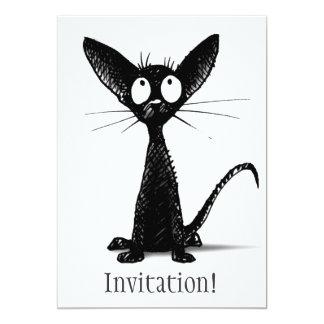 Funny Black Cat Card