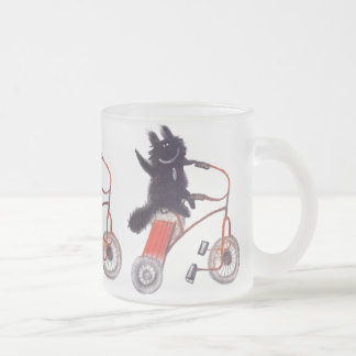 funny black cat glass mug