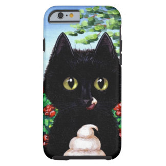 Funny Black Cat Ice Cream Creationarts Tough iPhone 6 Case
