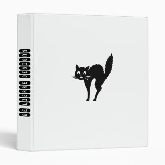 Funny Black Cat,White Binder