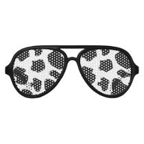 Funny black cow spots Halloween party shades