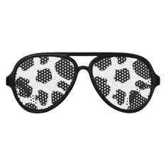 Funny Black Cow Spots Halloween Party Shades at Zazzle