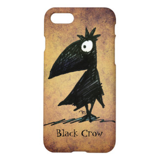 Funny Black Crow Art for Crow Lover iPhone 8/7 Case