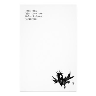Funny Black Crow Stationery Design