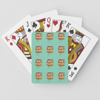 Funny Black Forest Gateau Quirky Watercolour Art Playing Cards